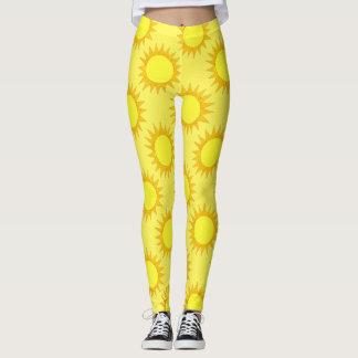 Summer Sunshine Yellow Sun Suns Sunny Day Leggings