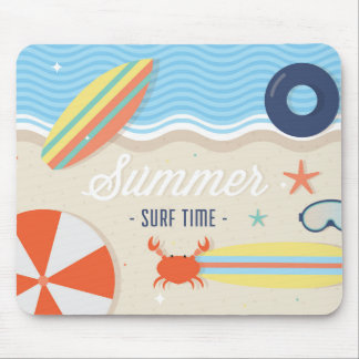 Summer surf time mousepad
