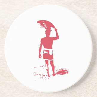 Summer Surfer Beverage Coaster