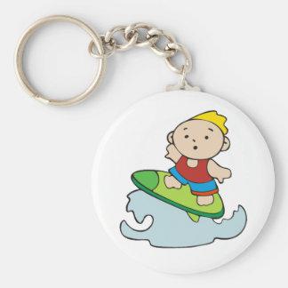 Summer Surfer Boy Keychain