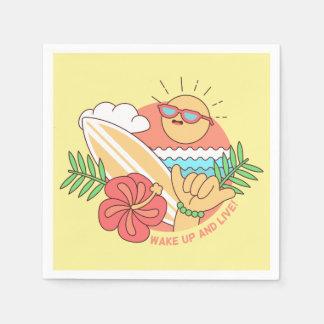 Summer Surfer paper napkins