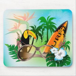 Summer, surfing mousepad