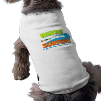 Summer Surfing Waves Typography Pet Clothing
