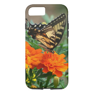 Summer - Swallowtail Butterfly and Pretty Marigold iPhone 8/7 Case