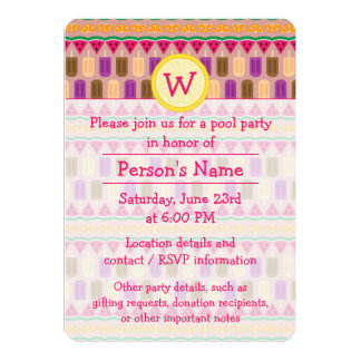 Summer Sweets Party Invitation