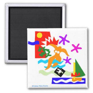 Summer swimmer - Australian Magnet