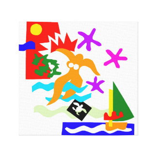 Summer swimmer - Canvas Print