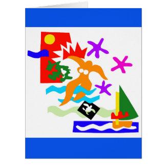 Summer swimmer - Greeting Card