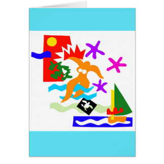 Summer swimmer - Greeting card
