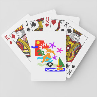 Summer swimmer - Playing cards