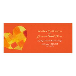 Summer tango Wedding Announcement