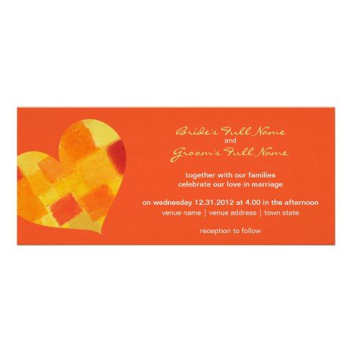 Summer tango Wedding Invitation