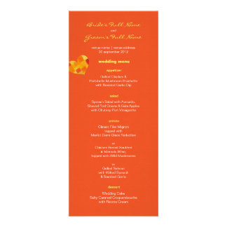 Summer tango Wedding Menu Invitation