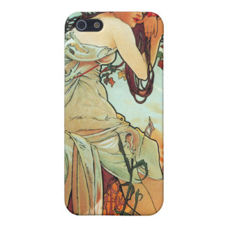 Summer, The Seasons, Mucha iPhone 5 Covers