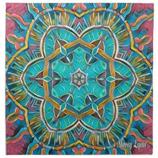 Summer Theme Kaleidoscope Napkin