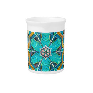 Summer Theme Kaleidoscope Pitcher