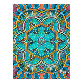 Summer Theme Kaleidoscope Postcard