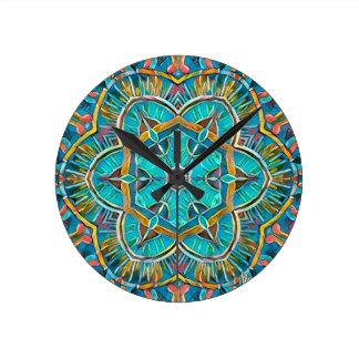 Summer Theme Kaleidoscope Round Clock