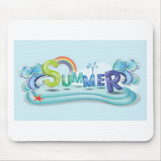 Summer theme mouse pad