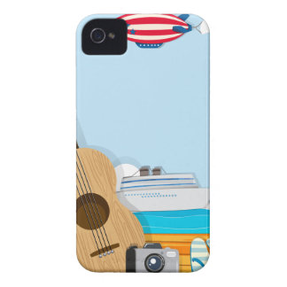Summer theme with cruise and travel objects iPhone 4 Case-Mate cases