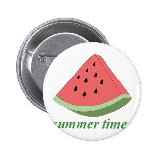 Summer Time 6 Cm Round Badge