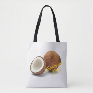 Summer time- coconut tote bag