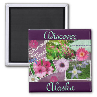 Summer Time In Alaska Square Magnet
