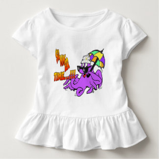 Summer Time Octopus Toddler Ruffle Tee