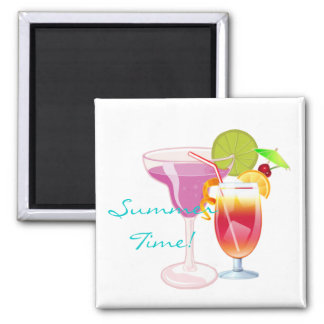 Summer Time! Square Magnet