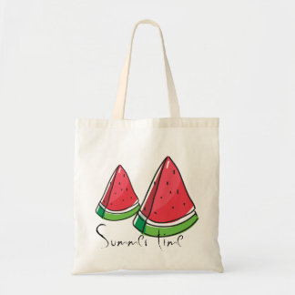 Summer time, sweet red watermelon Budget tote bag