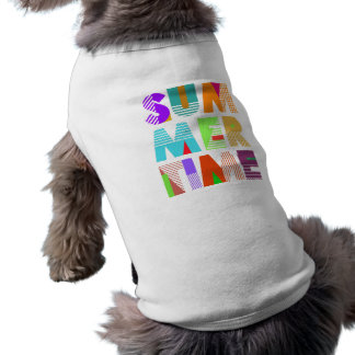 Summer Time Typography Graphic Doggie Tank Top Pet T-shirt
