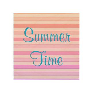 Summer Time Wood Wall Art Wood Canvases