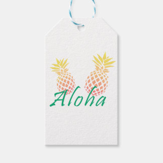 "summer tropical ""aloha"" text, colorful pineapple"