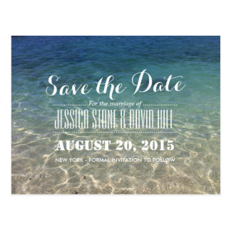 Summer Tropical Beach Wedding Save the Date Postcard