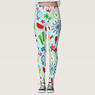 Summer Tropical Vacation Leggings