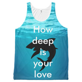 summer unisex vest All-Over print tank top