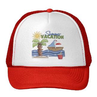 Summer Vacation Baseball Cap Mesh Hats