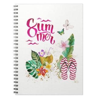 Summer, vacation, beach. Aloha Hawaii Notebooks