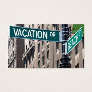Summer Vacation Beach Street Signs