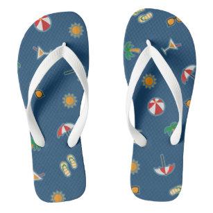 d7ccc7d1b42311 Summer Vacation Beach Theme Pattern Thongs