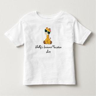 Summer Vacation Giraffe Toddler T-Shirt