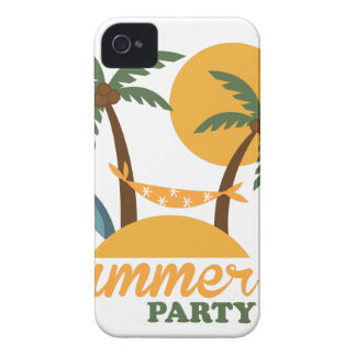Summer vacation holiday tropical island with palm iPhone 4 covers