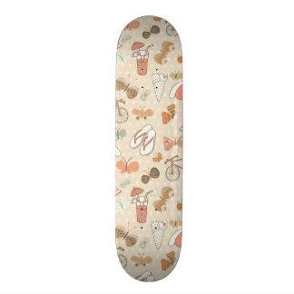 Summer Vacation Pattern Skate Board Decks