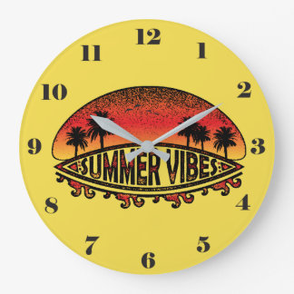 Summer Vibes - Endless Sunsets Large Clock