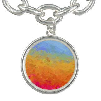 Summer watercolor rainbow colorful design