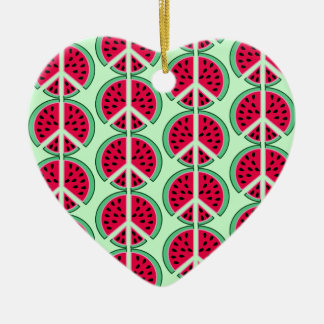 Summer Watermelon Ceramic Ornament
