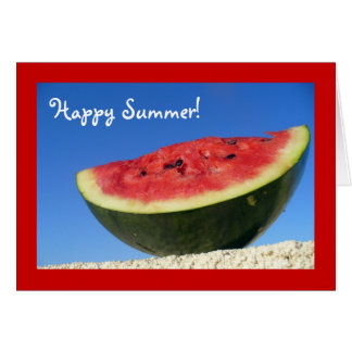 Summer Watermelon Greetings Card