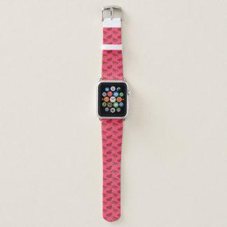 Summer Watermelon on Pink Pattern Apple Watch Band