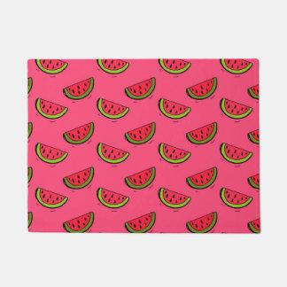Summer Watermelon on Pink Pattern Doormat