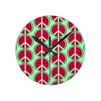 Summer Watermelon Round Clock